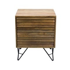 Shutter 2-Drawer Nightstand