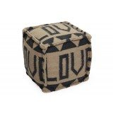 Love Recycled cotton Pouf